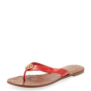 Tory Burch Thora Sandals Flip Flops Red Size 6